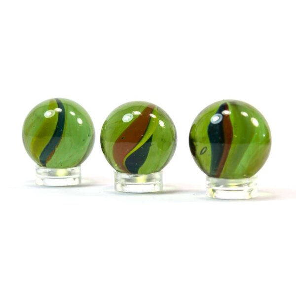 Glaskugel Crystal Katzenauge Grün (25mm)