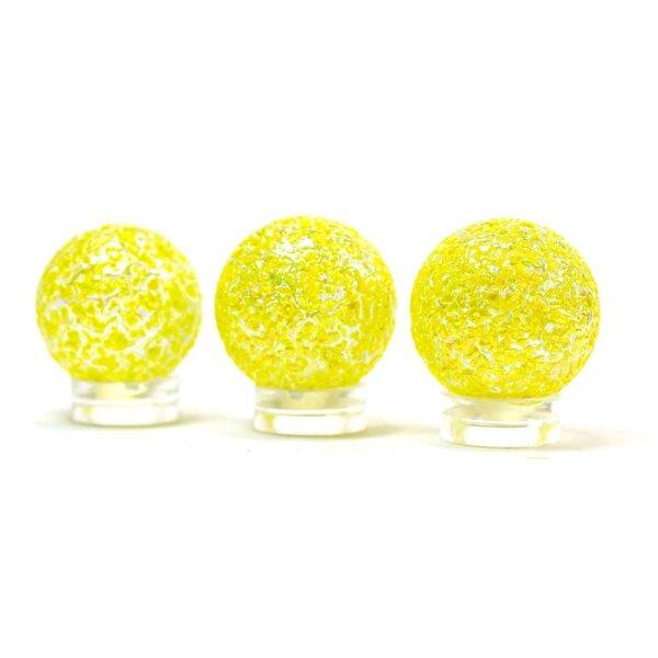 Glaskugel Crystal Glasklar Gelb getupft (25mm)
