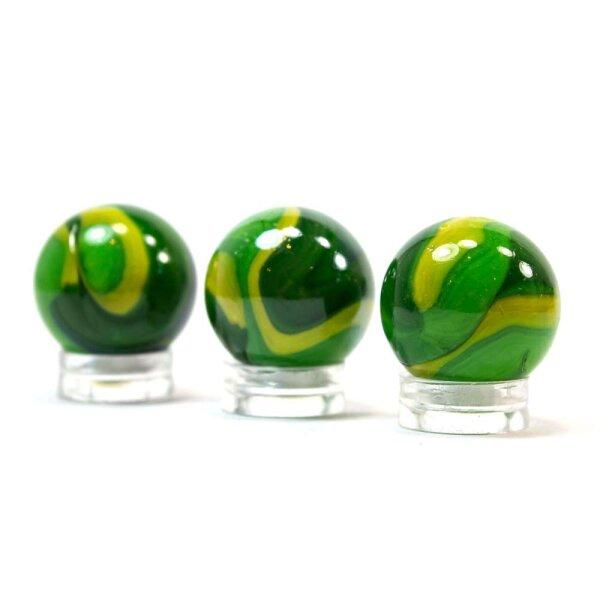 Glaskugel Opak Grün gebändert (22mm)