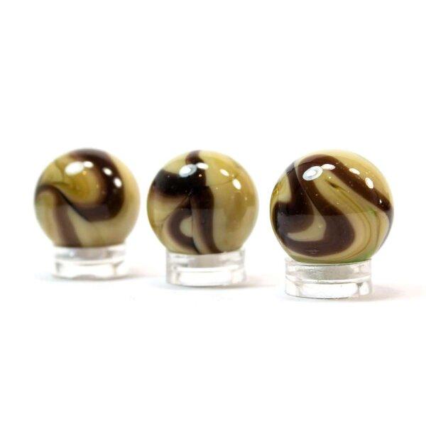 Glaskugel Opak Cappuccino gebändert (22mm)