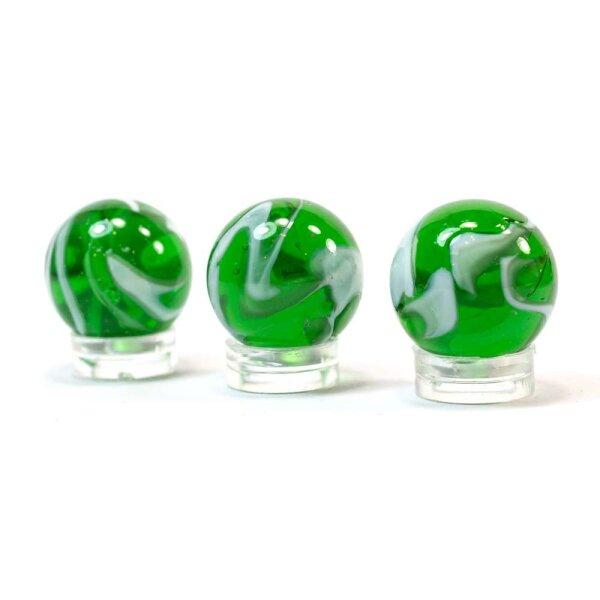 Glaskugel Crystal Grün gebändert (22mm)