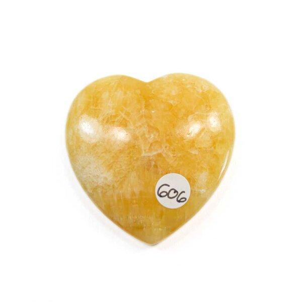 Calcit orange/gelb Herz 23g