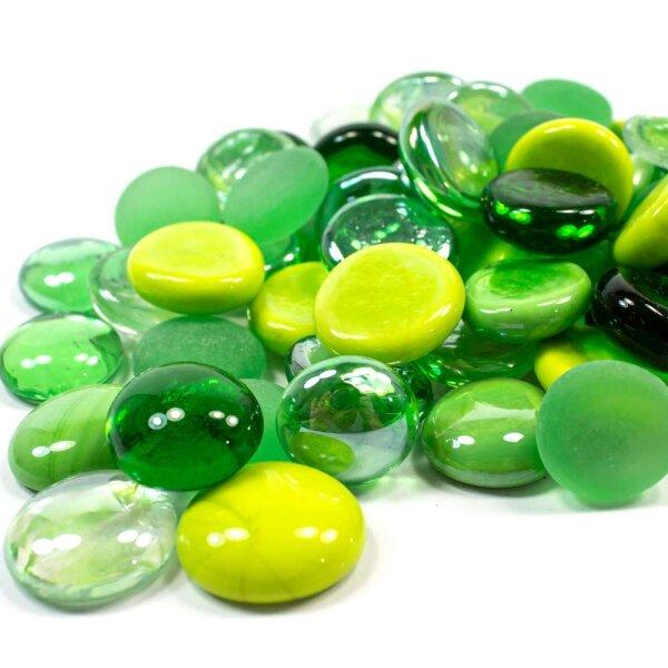 Glasnuggets Farbmix Green 1kg (17-20mm)