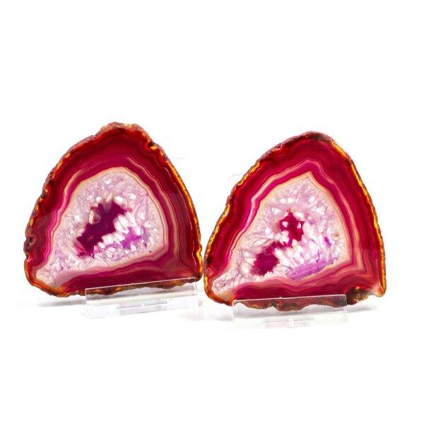 Achatscheiben Pärchen Pink je ca.7cm - je 33g