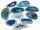 10 Achatscheiben Blau 2-4 cm