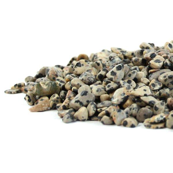 Dalmatinerstein Trommelstein Chips 4-12mm 100g