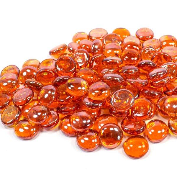 Glasnuggets Shine Orange Irisierend 100g (17-20mm)