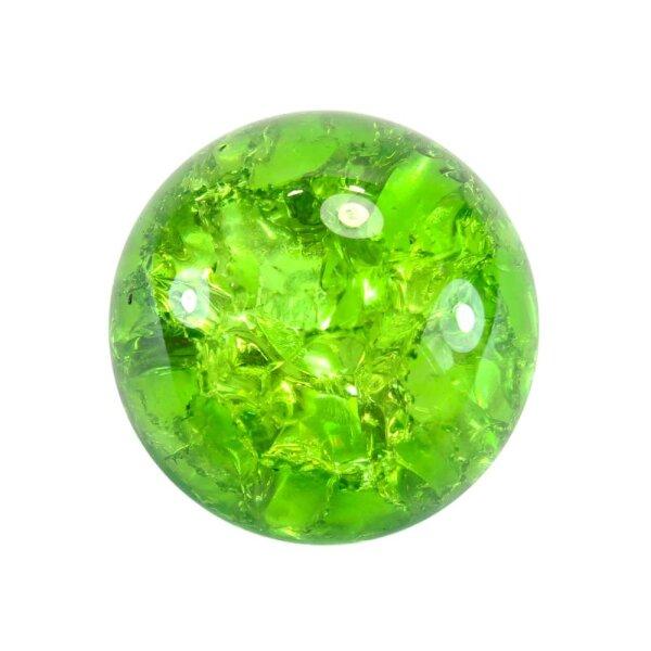 Glaskugel Effektsplitt Grün (35mm)